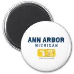 Gran estado del lago ann Arbor Michigan Imán De Nevera