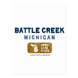 Gran estado del lago battle Creek Michigan Tarjetas Postales