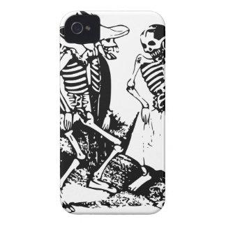 Gran Fandango Skeletons Dancing Mexico Vintage iPhone 4 Case