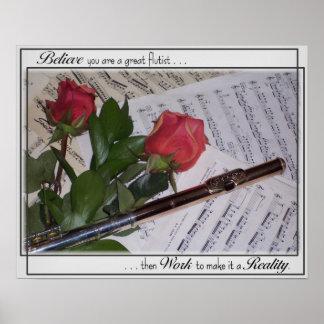Gran flautista póster