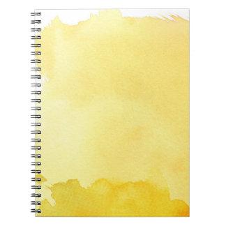 gran fondo de la acuarela - pinturas 2 de la acuar spiral notebook