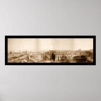 Gran foto 1871 de Chicago del fuego Impresiones