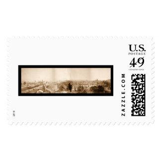 Gran foto 1871 de Chicago del fuego Sello Postal