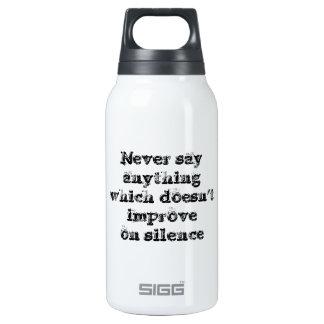 Gran frase simple fresca de tao de la filosofía de botella isotérmica de agua