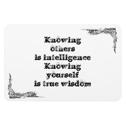 Gran frase simple fresca de tao de la filosofía de imán de vinilo