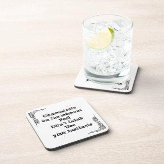 Gran frase simple fresca de tao de la filosofía de posavasos de bebidas