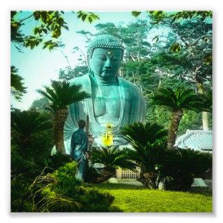 Gran Gaibutsu en Kamakura Buda gigante Japón Cojinete