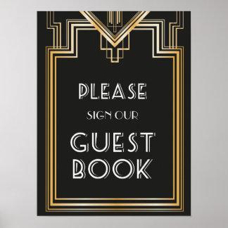 Gran Gatsby inspiró la muestra del boda del libro Póster
