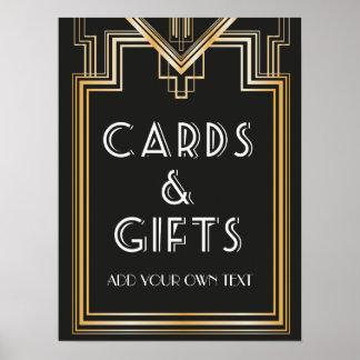 Gran Gatsby inspiró tarjetas y la señalización de Póster