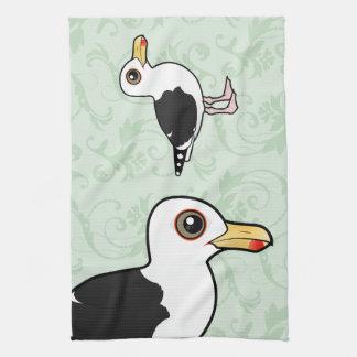 Gran gaviota de espalda negra de Birdorable Toallas De Mano