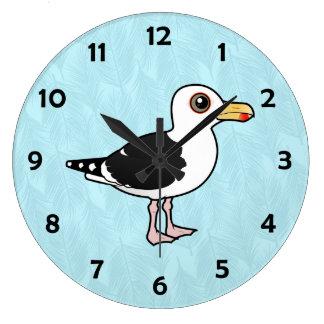 Gran gaviota de espalda negra de Birdorable Relojes