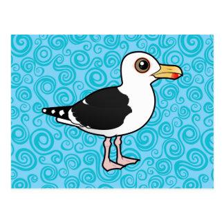 Gran gaviota de espalda negra de Birdorable Postal