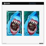 Gran Gobstopper blanco - tiburón CONTRA zombi Skins Para Kindle Fire