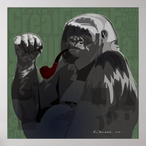 Gran gorila verde poster
