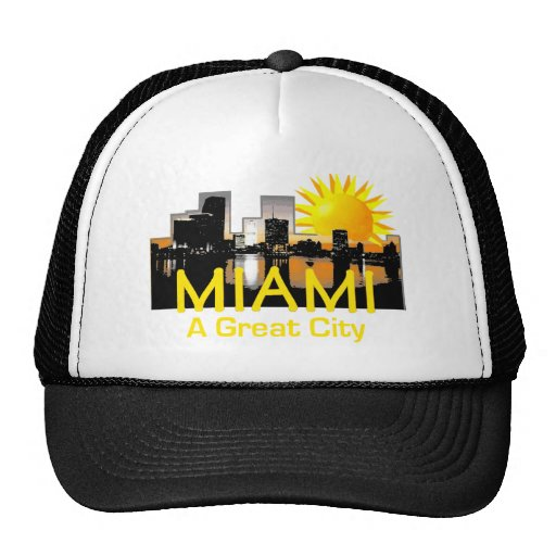 Gran gorra de la ciudad de MIAMI