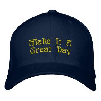 Gran gorra, mensaje impresionante gorra de beisbol bordada