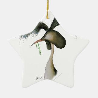 gran grebe con cresta, fernandes tony adorno navideño de cerámica en forma de estrella