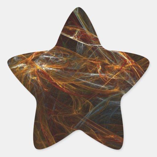 gran guarnición pegatinas forma de estrellaes personalizadas