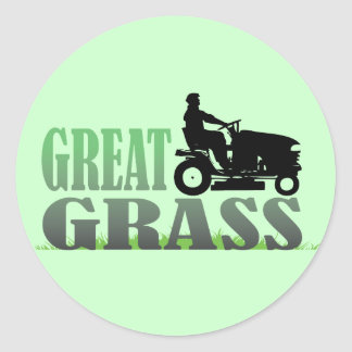 Gran hierba pegatinas redondas