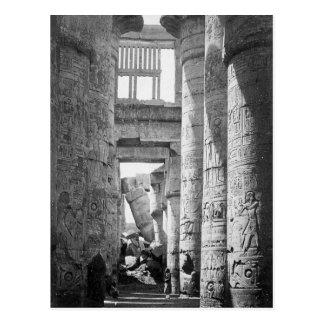 Gran ~ hipóstilo 1845 de Pasillo Karnak Egipto Postales
