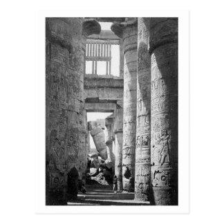 Gran ~ hipóstilo 1845 de Pasillo Karnak Egipto Tarjeta Postal