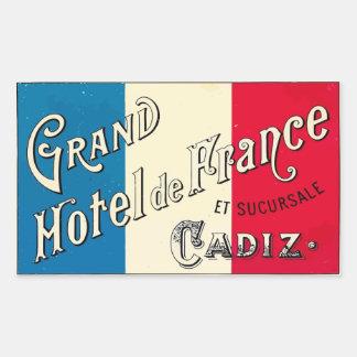 Gran Hotel de Francia (Cádiz) Pegatina Rectangular