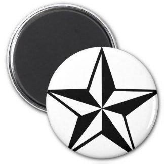 gran icono de la estrella imán redondo 5 cm