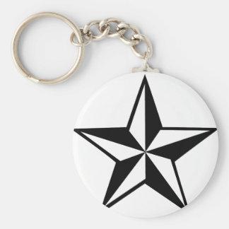 gran icono de la estrella llavero redondo tipo pin