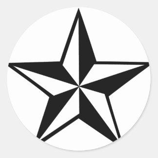 gran icono de la estrella pegatina redonda