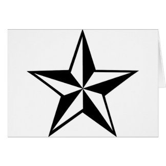gran icono de la estrella tarjeta de felicitación