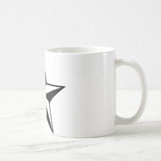 gran icono de la estrella taza básica blanca