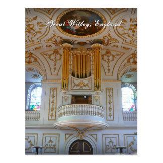 Gran iglesia de Witley, postal BRITÁNICA
