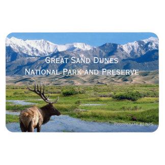 Gran imán del parque nacional de las dunas de aren