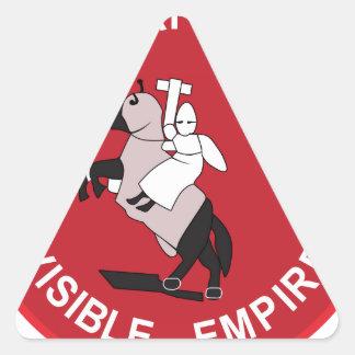 Gran imperio invisible gigante pegatina triangular