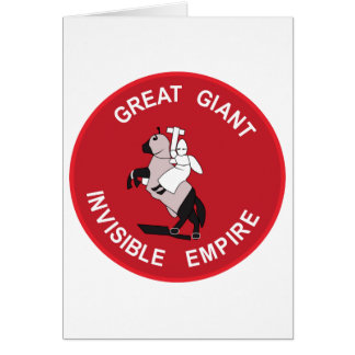 Gran imperio invisible gigante tarjeta de felicitación