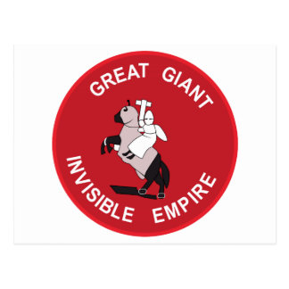 Gran imperio invisible gigante tarjetas postales