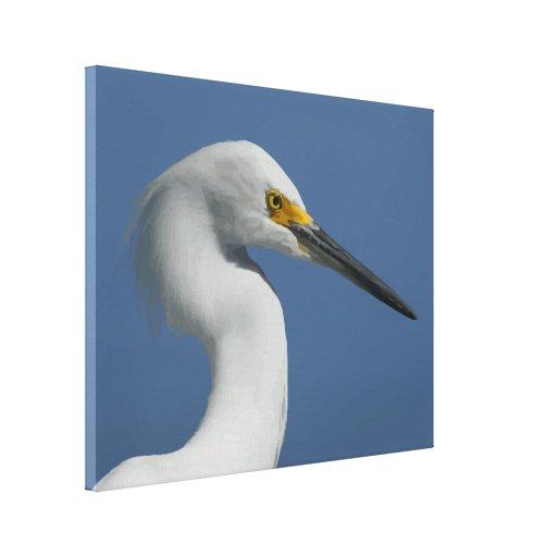 Gran impresión de la lona del Egret Lona Envuelta Para Galerías