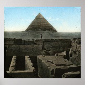Gran impresión de la pirámide póster