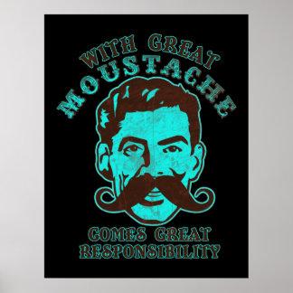 Gran impresión del bigote póster