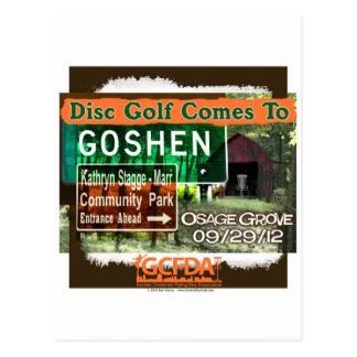 Gran inauguración del golf del disco de Goshen de Postales