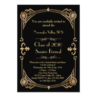 Gran invitación del baile de fin de curso de