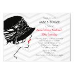 Gran invitación del cumpleaños de Gatsby del jazz Invitación 11,4 X 15,8 Cm