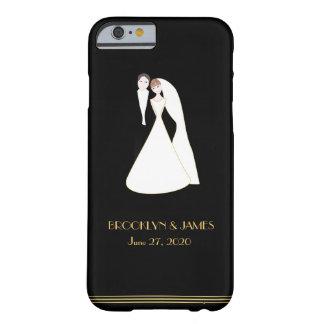 Gran iPhone negro de encargo del boda de Gatsby 6 Funda Para iPhone 6 Barely There