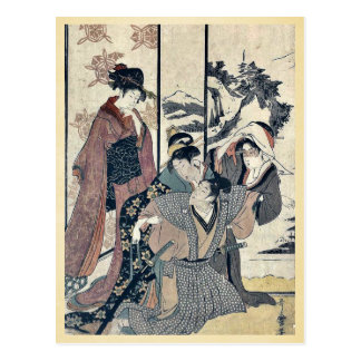 Gran limpieza de la casa por Kitagawa, Utamaro Postal