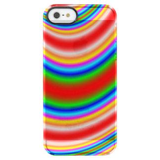 Gran línea colorida modelo funda clearly™ deflector para iPhone 5 de uncommon