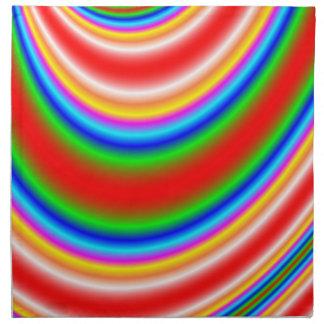 Gran línea colorida modelo servilleta