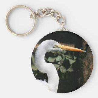 Gran llavero blanco del Egret