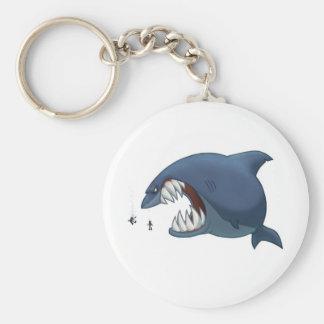 Gran llavero del tiburón blanco