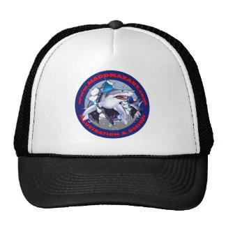 Gran logotipo del tiburón blanco de Maddmax Gorro De Camionero