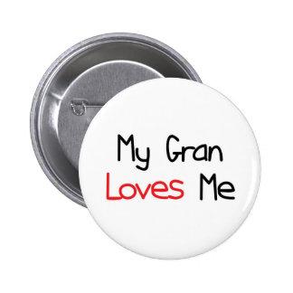 Gran Loves Me Pinback Button
